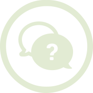 Question conversation in a circle icon